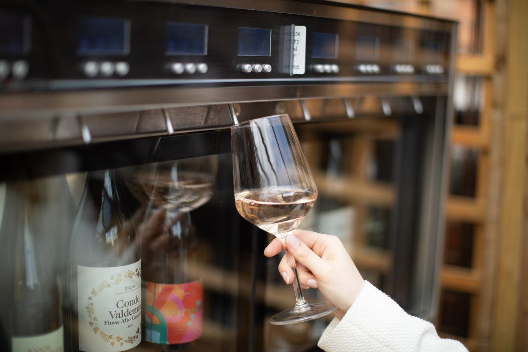 Self-service wine bar